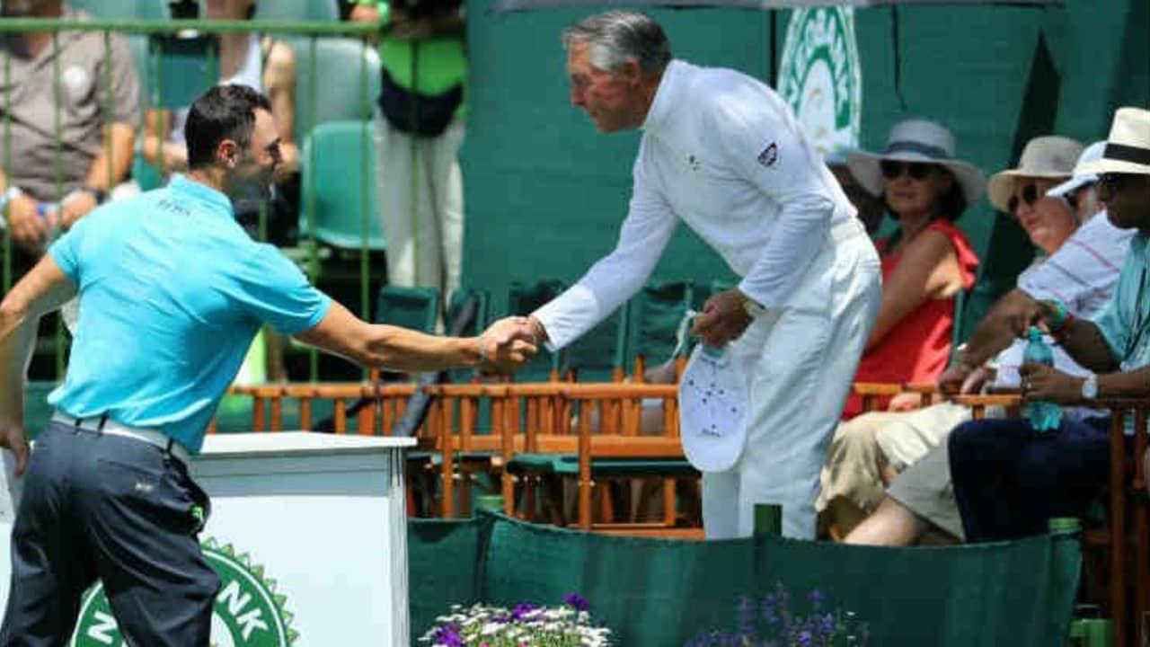 Martin Kaymer begrüßt Golflegende und Gastgeber Gary Player in Südafrika. (Foto: Getty)