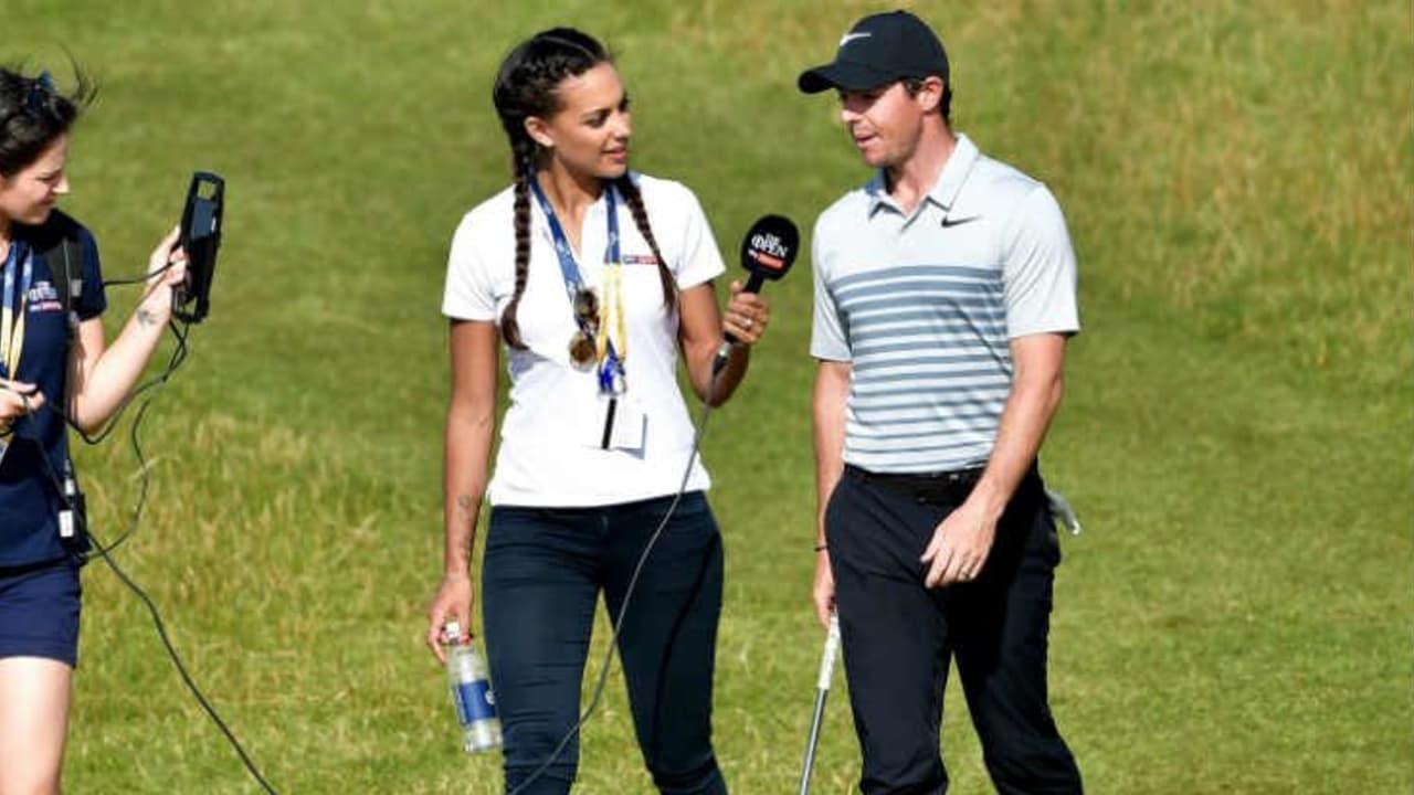 Anders als hier bei Rory McIlroy, werden die Spieler beim World Super 6 direkt mit einem Mikrofon ausgestattet und können mit den Kommentatoren interagieren. (Foto: Getty)