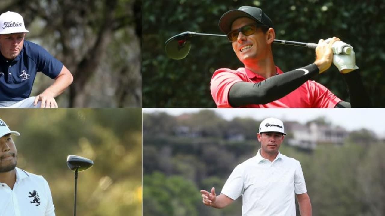 Diese vier Golfer dürfen ihre Koffer für das US Masters Tournament 2018 packen: Cameron Smith (o.l.), Satoshi Kodaira (u.l.) Dylan Frittelli (o.r.) und Chez Reavie (u.r.). (Foto: Getty)