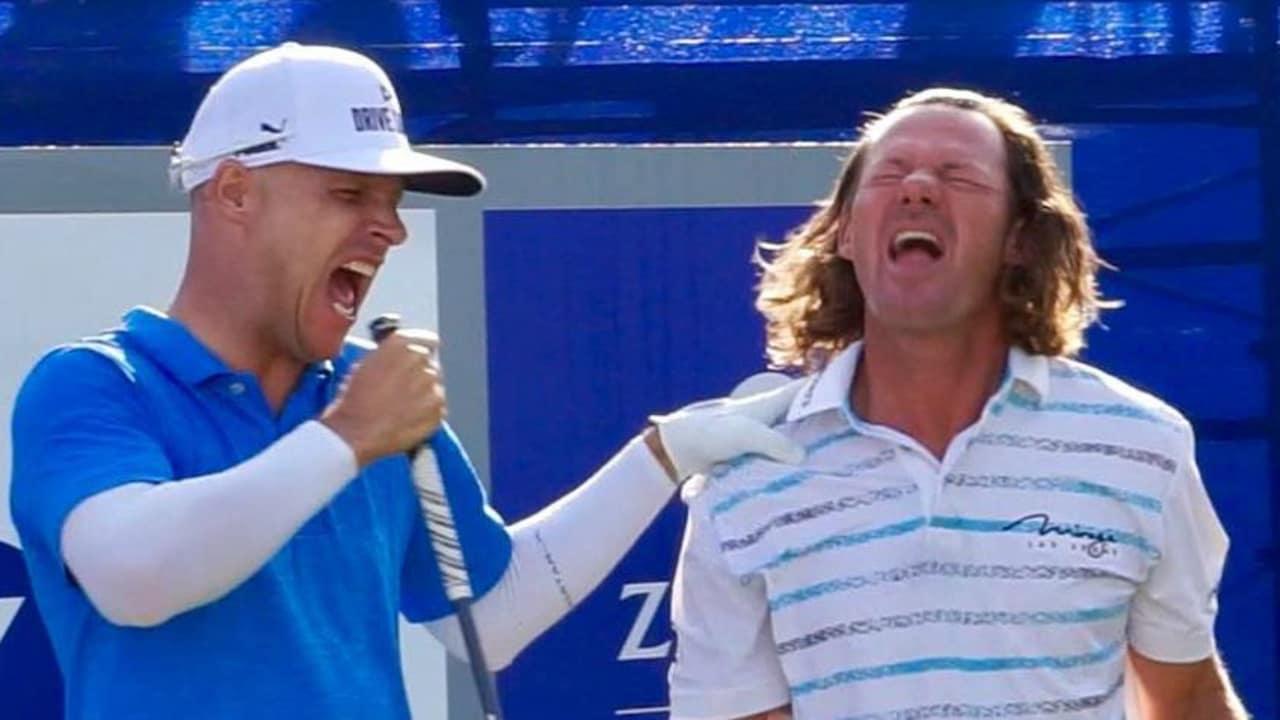 Alex Cejka und Ben Crane liefern eine Show zu ihrer Walk-Up Musik auf der PGA Tour. (Foto: instagram.com/@pgatour)