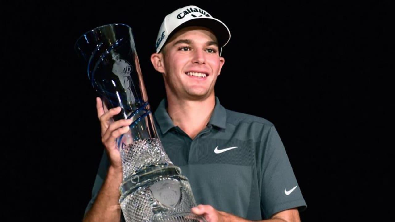 Ein strahlender Sieger und erstmaliger PGA Tour Champion: Aaron Wise. (Foto: Twitter/@PGATOUR)