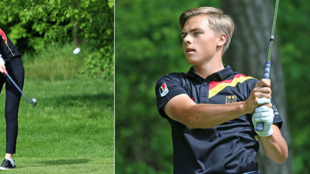 Die zwei großen deutschen Hoffnungen, Anna Eisenhut und Felix Krammer versuchen im GC St. Leon Rot den Titel zu holen, doch die Konkurrenz ist groß. (Foto: DGV / Strebl)