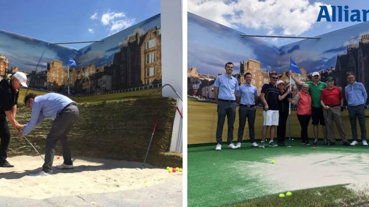 Die Allianz Road-Hole-Bunker-Challenge im Rahmen der BMW International Open 2018 war ein voller Erfolg. (Foto: Golf Post)