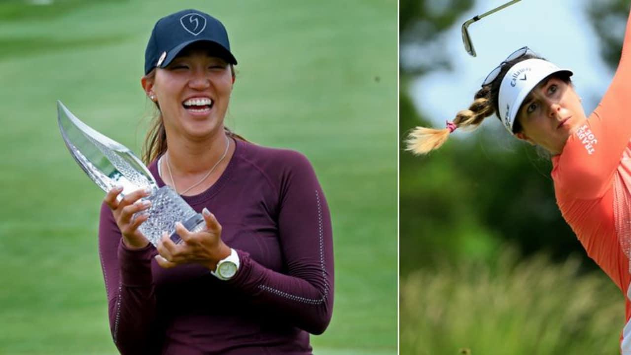 Der erste Titel auf der LPGA Tour für Annie Park, während Sandra Gal starke Fünfte wird. (Fotos: Twitter/ @espnW und Getty)