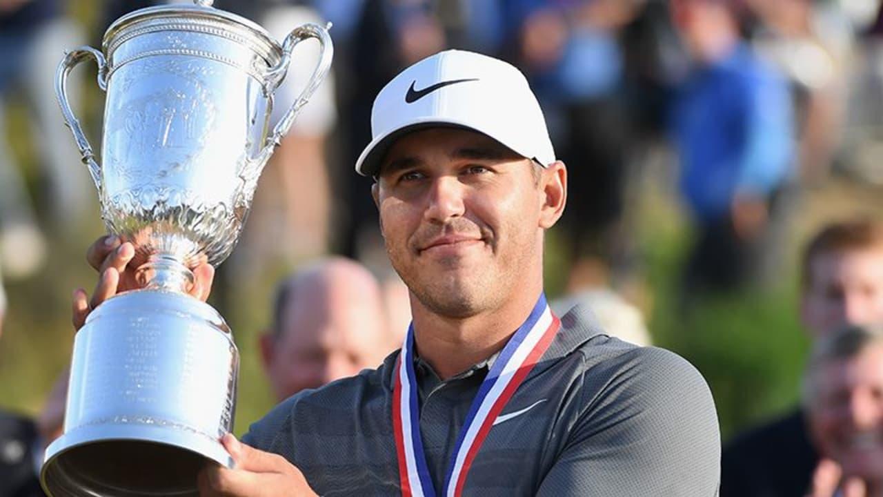 Brooks Koepka verteidigt den Titel bei der US Open 2018 und lässt Tommy Fleetwood trotz Rekordrunde hinter sich. (Foto: Getty)