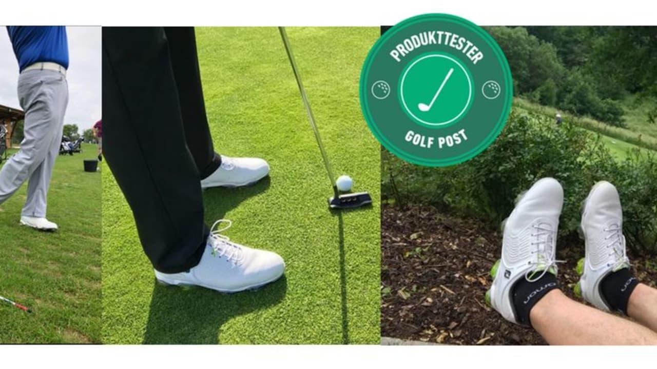 Der FootJoy Tour-S Golfschuh wurde von drei Testern über mehrere Wochen intensiv getestet. (Foto: Golf Post)