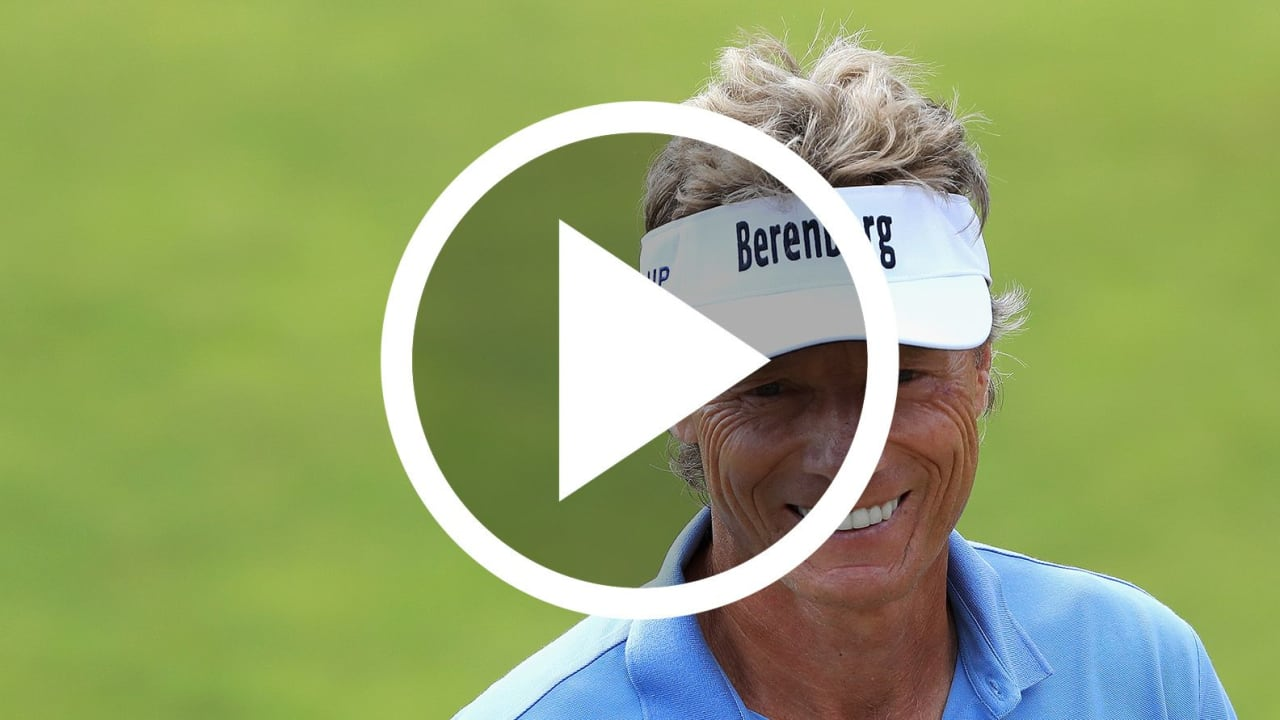 Golf Video Bernhard Langer Eagle Hole-Out PGA Tour Champions Boeing Classic 2018