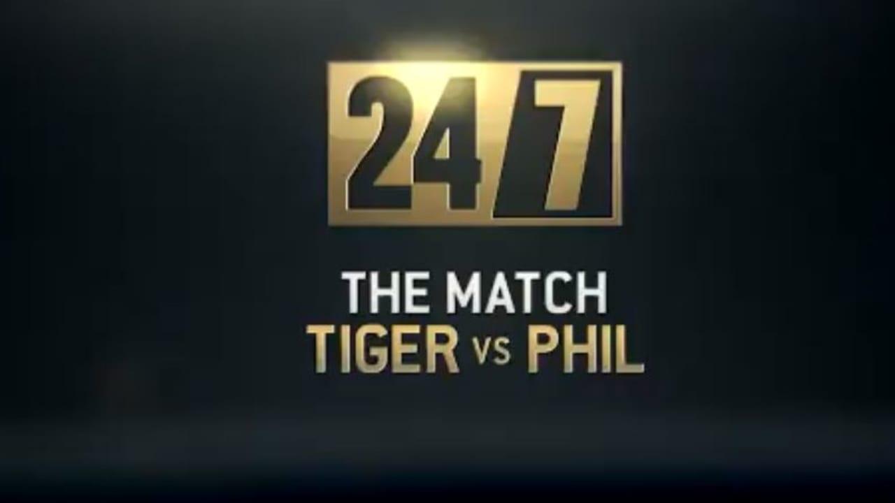 HBO präsentiert ein Special zum Showmatch zwischen Tiger Woods und Phil Mickelson. (Screenshot: Twitter.com/@HBO)