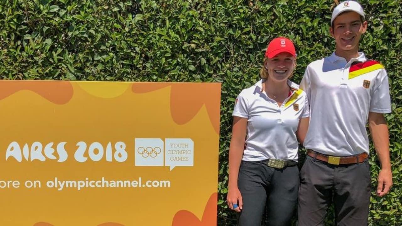 Paula Kirner und Lukas Buller bei den Olympischen Jugendspielen in Buenos Aires. (Foto: DGV)