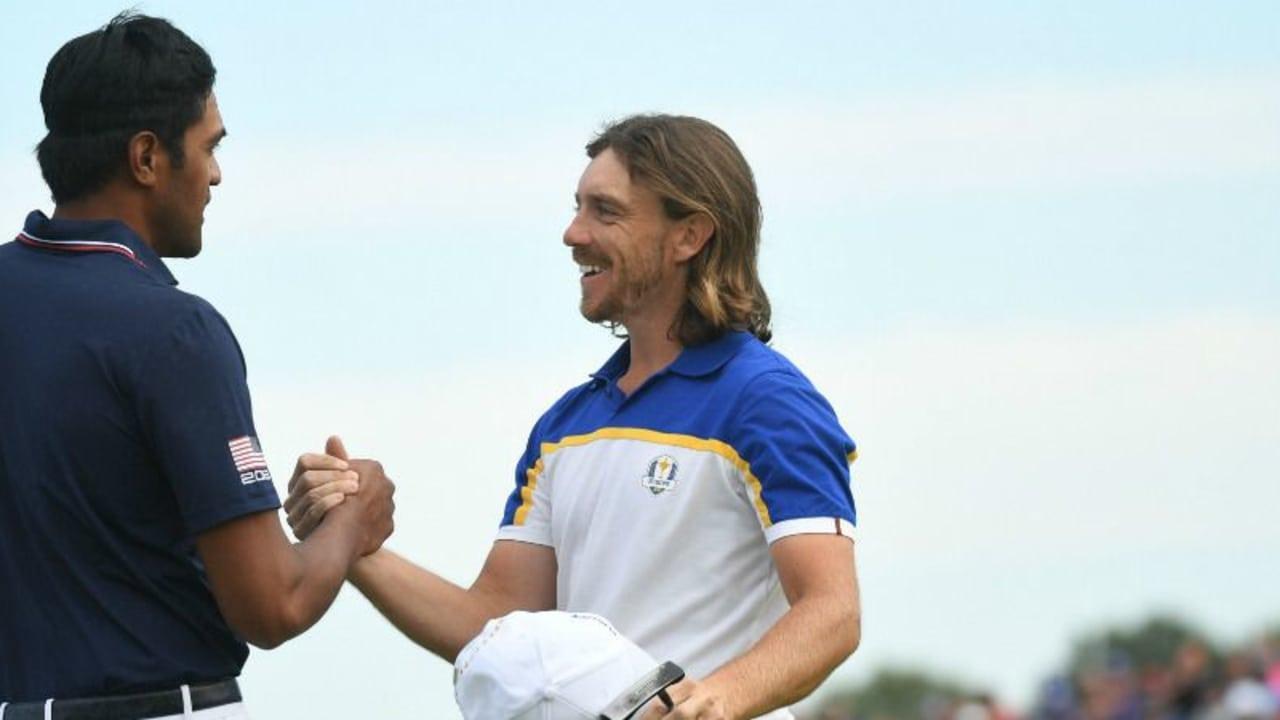 Tony Finau und Tommy Fleetwood sind nur zwei von vier Ryder Cup Stars, die in dieser Woche auf der European Tour an den Start gehen. (Foto: Getty)