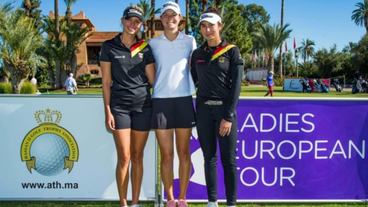 Esther Henseleit, Sophia Zeeb und Sarina Schmidt versuchten ihr Glück bei der Qualifying School der Ladies European Tour. (Foto: Twitter / @LETgolf)