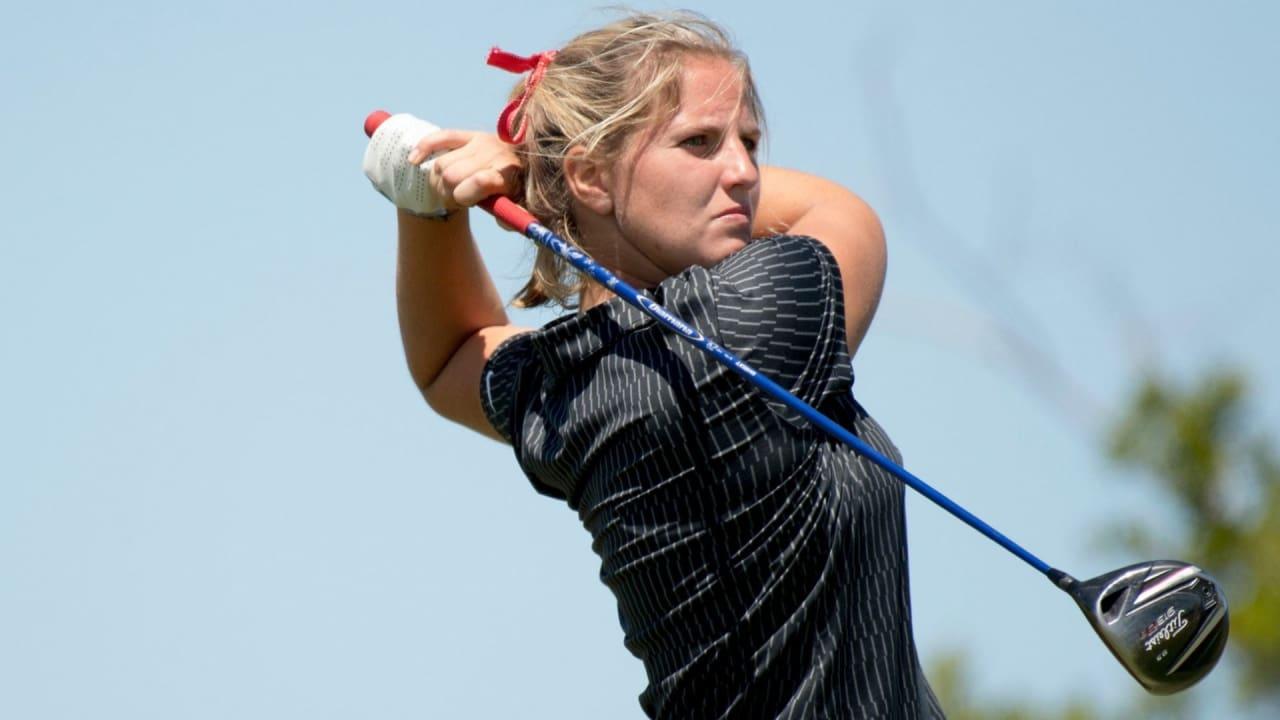 Leonie Harm ist als einzige deutsche Starterin bei der Augusta National Women's Amateur Championship. (Foto: Twitter/@American_MWGolf)