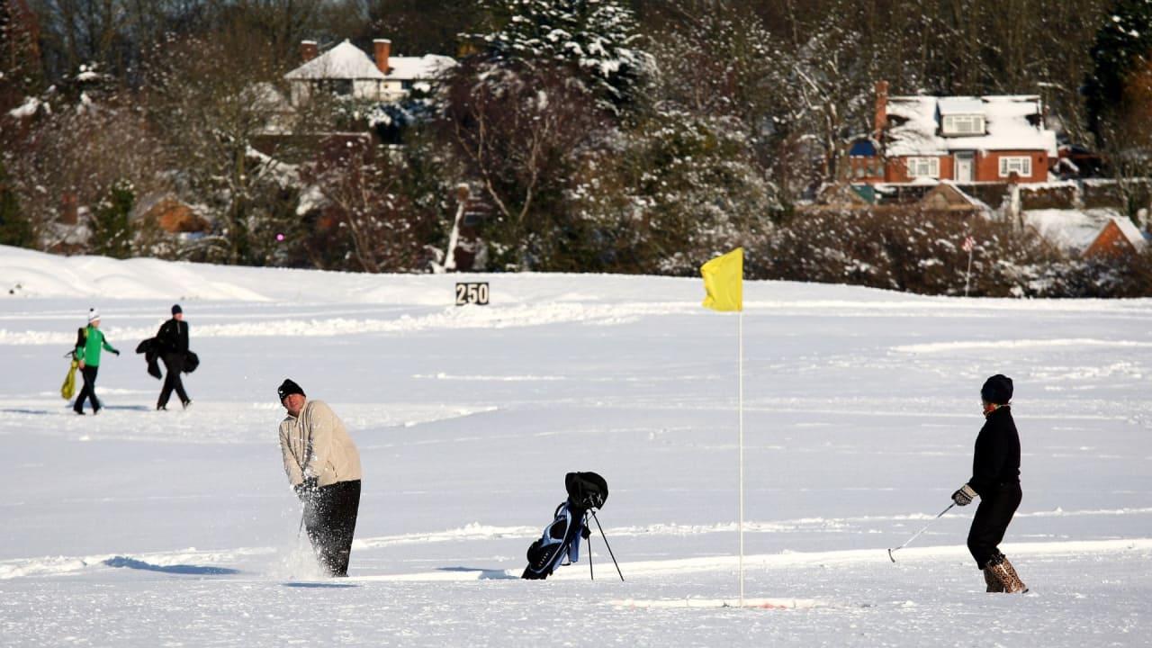 Golf und Schnee müssen sich nicht ausschließen. (Foto: Getty)