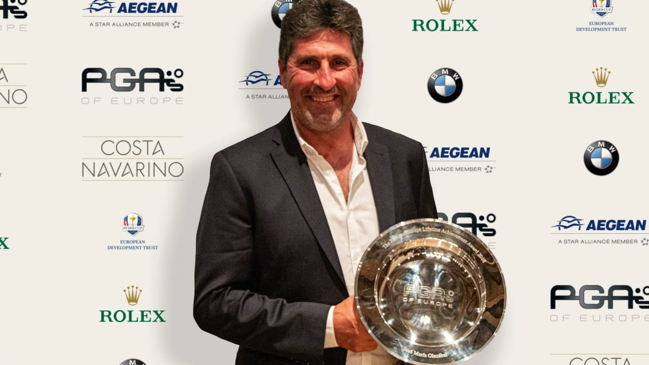 2018 PGAs of Europe Lifetime Achievement Award Winner, José María Olazábal. (Foto: PGAs of Europe)