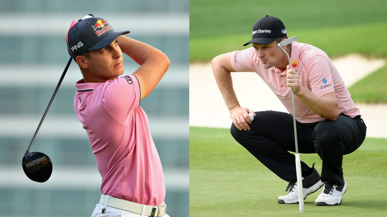 Matthias Schwab (links) und Justin Rose (rechts) beim Saudi International der European Tour. (Foto: Getty)