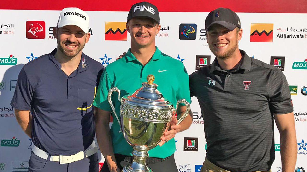 Der Pole Mateusz Gradecki triumphiert in Casablanca, Marokko, auf der Pro Golf Tour. (Foto: Pro Golf Tour)