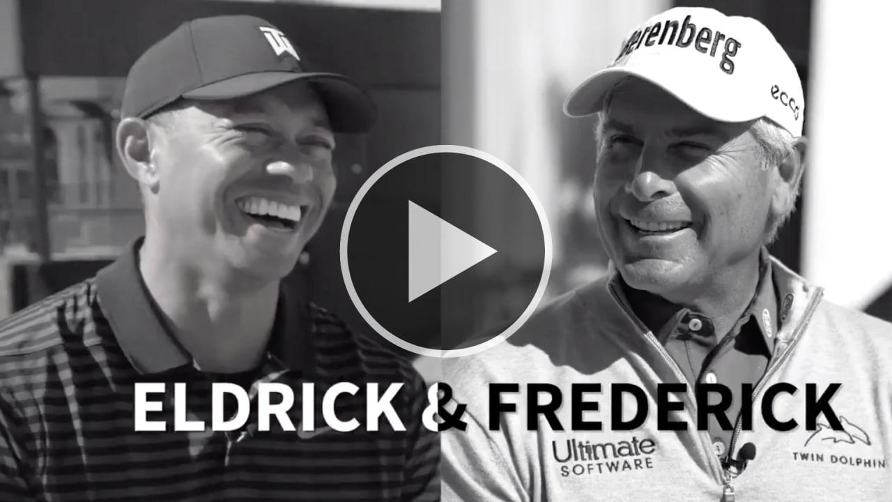 Tiger Woods ist abergläubisch und Fred Couples ließ sich immer fahren. Welche Ticks die beiden sonst haben, verraten sie im Interview mit GOLFTV. (Foto: Twitter/@GOLFTV)