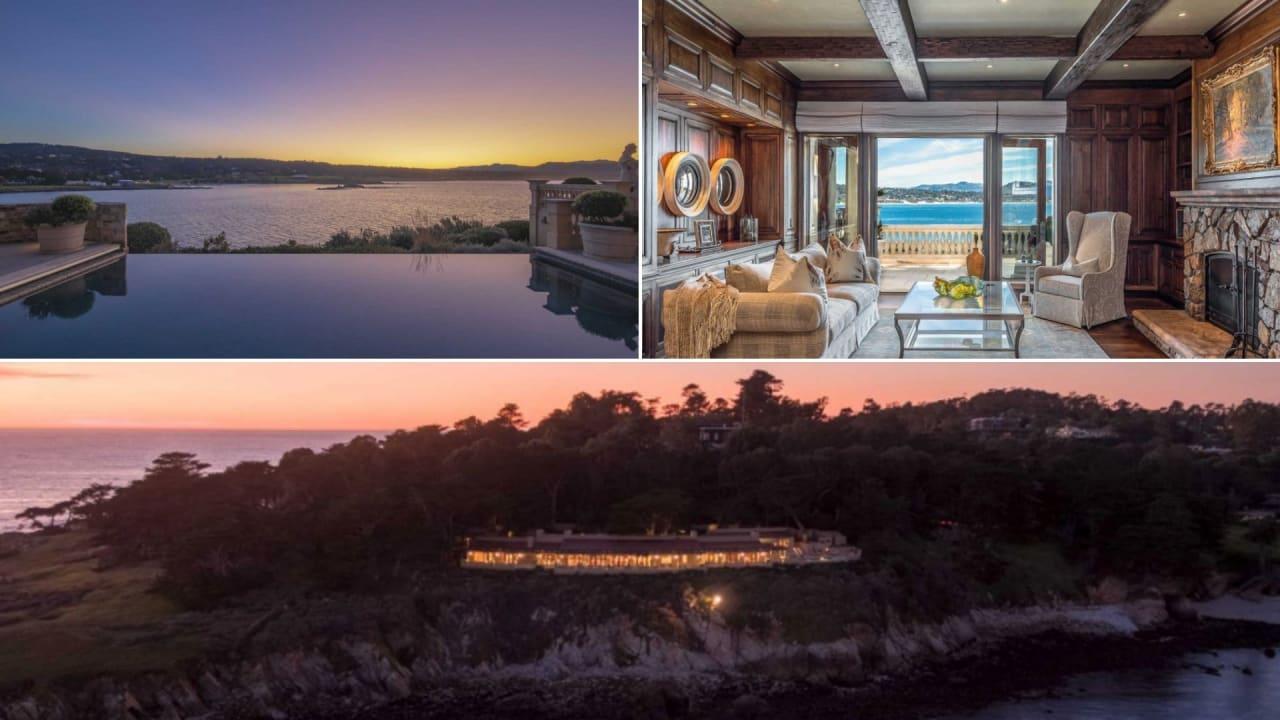 Das luxuriöse Anwesen in Pebble Beach hat einen stolzen Preis und wartet auf einen neuen Besitzer. (Foto: Twitter/@GolfChannel)