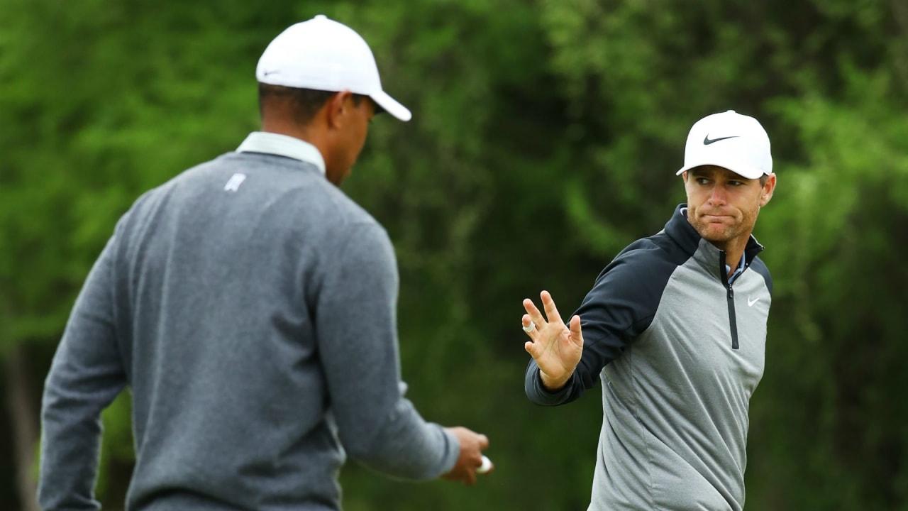 Lucas Bjerregaard gewinnt gegen Tiger Woods im Viertelfinale der World Golf Championship - Dell Match Play. (Foto: Getty)
