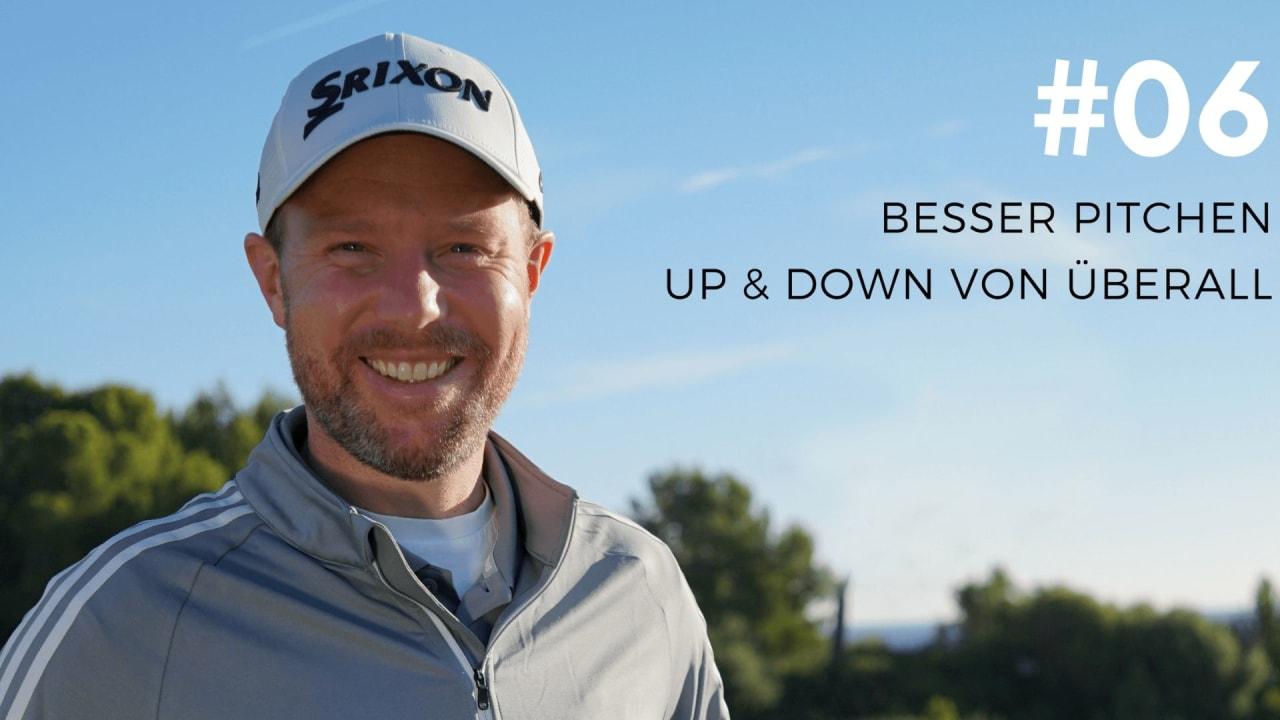 Fabian Bünker spricht in seiner neuen Podcast-Folge über besseres Pitchen. (Foto: Golf in Leicht)