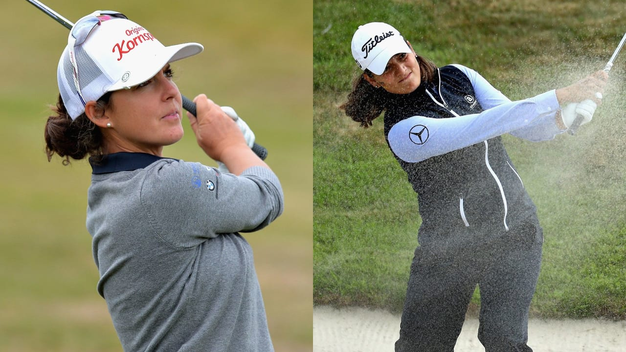 Christine Wolf (links) wird auf der Ladies European Tour Vierte, Karolin Lampert Achte. (Foto: Getty)