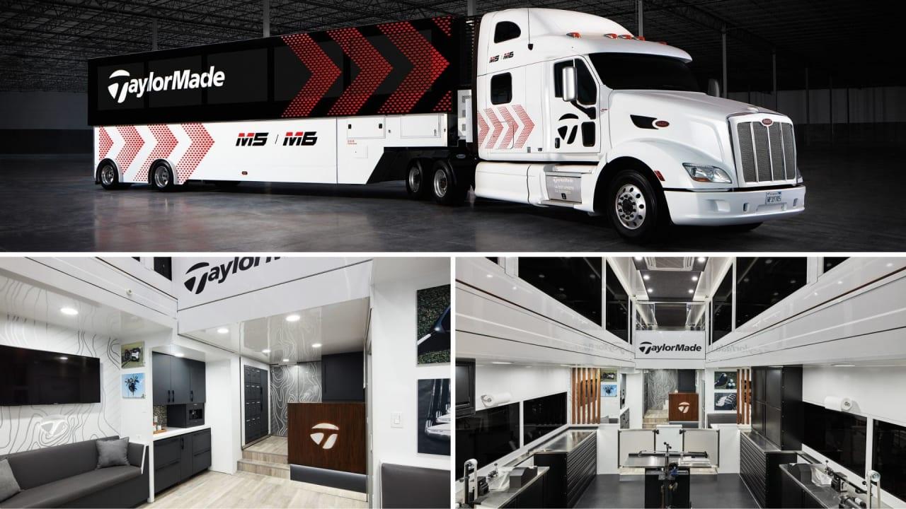 Der neue Tour Truck von TaylorMade wiegt knapp 22 Tonnen und ist über zwölf Meter lang. (Fotos: TaylorMade)