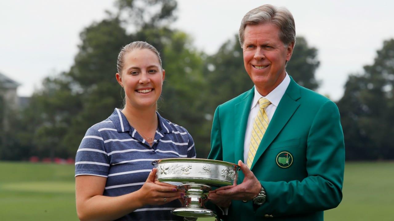 Jennifer Kupcho gewinnt die erste Augusta National Women's Amateur im Augusta National Golf Club. (Foto: Getty)