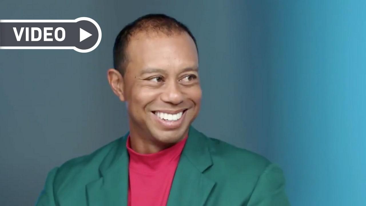 Tiger Woods - sein erstes Interview seit dem historischen Sieg beim Masters (Foto: Golf TV)