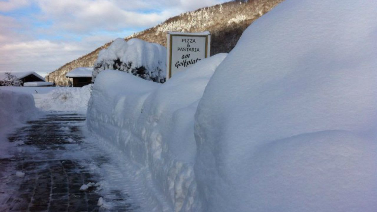 Die Schneelage im GC Ruhpolding Anfang Februar 2019. (Bildquelle: GC Ruhpolding)