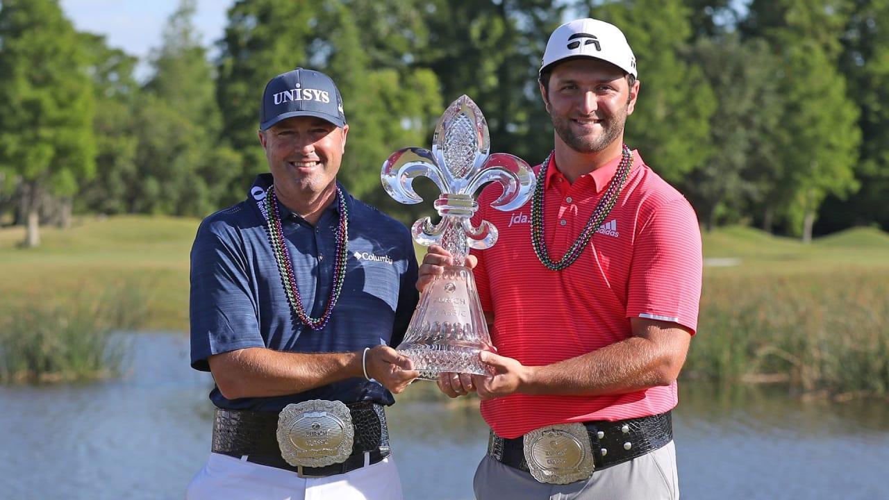 Ryan Palmer (li.) und Jon Rahm gewinnen die Zurich Classic der PGA Tour. (Foto: Getty)
