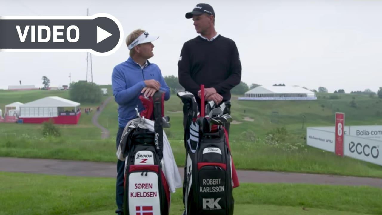Sören Kjeldsen und Robert Karlsson im Duell. (Bildquelle: Screenshot/ Youtube)