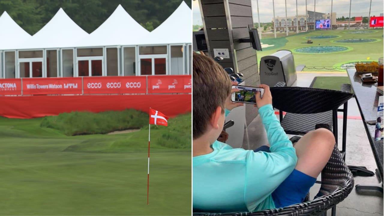 Während der Made in Denmark findet die erste European eTour Championship statt. (Foto: Getty und Twitter/@wgtgolf)