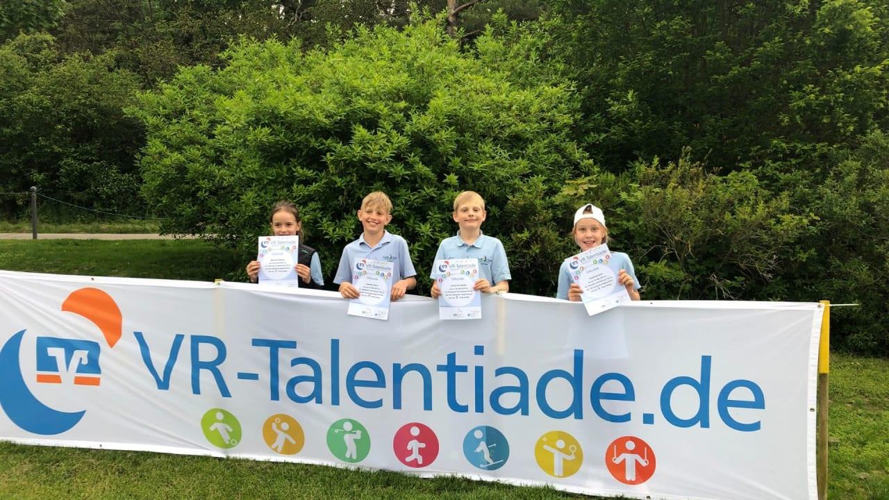 Johannesthaler Jugend bei der VR Talentiade in Pforzheim. (Bild: GC Johannesthal)