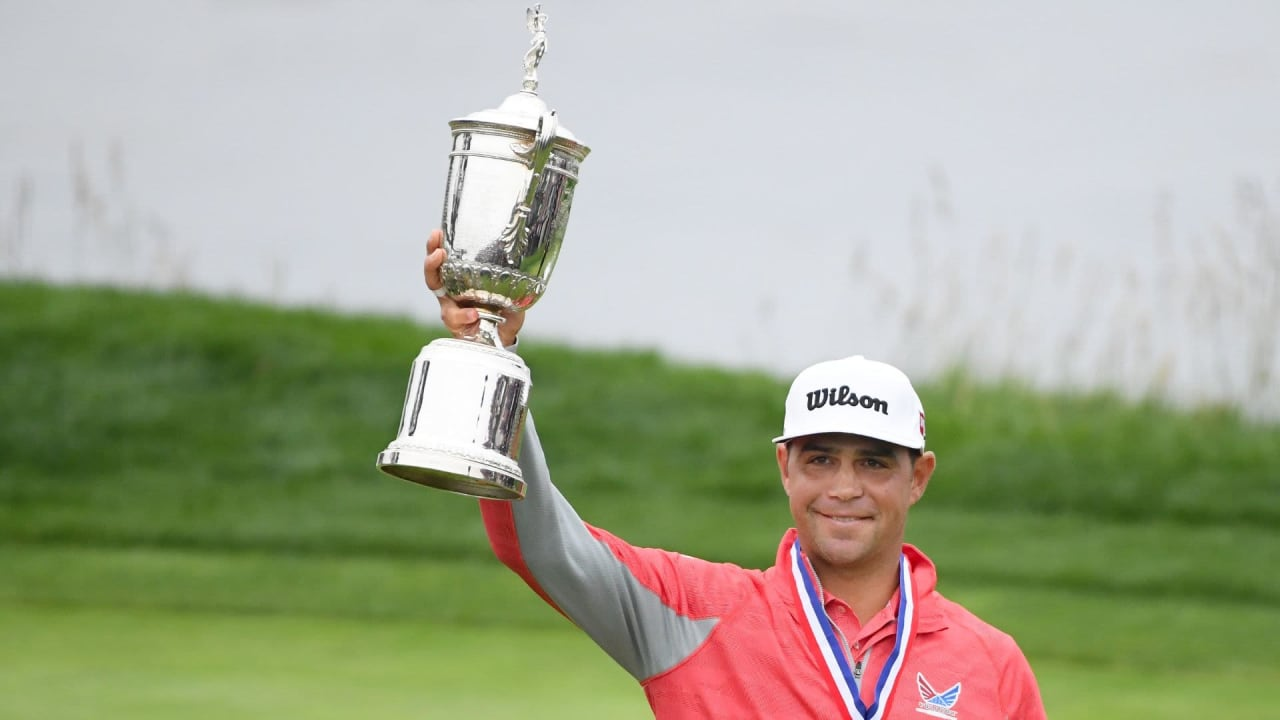 Gary Woodland sichert sich den Sieg bei der US Open 2019 in Pebble Beach. (Foto: Getty)