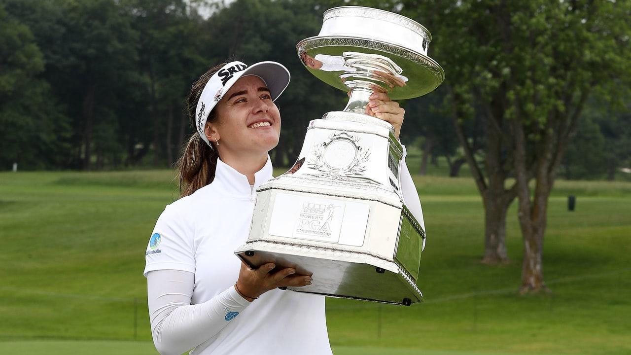 Hannah Green gewinnt mit der WOmen's PGA Championship ihren ersten Major-Titel. (Foto: Getty)