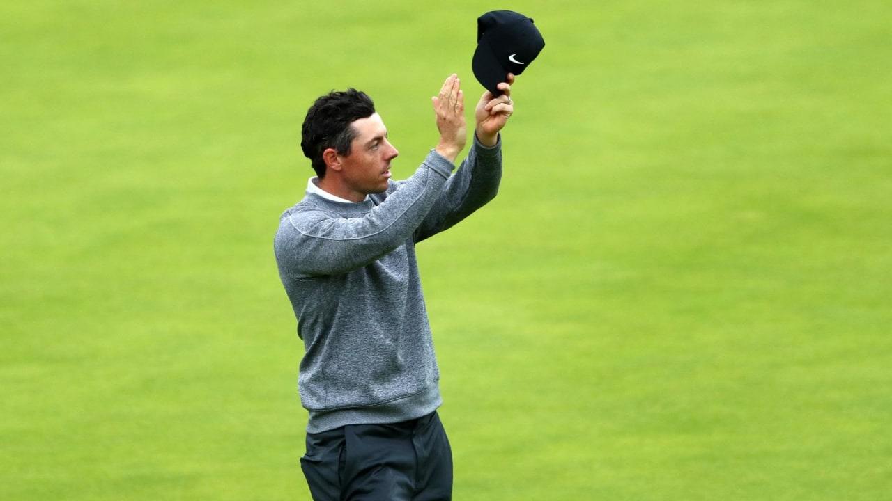 Rory McIlroy verabschiedet sich von seinen Fans in Royal Portrush. (Foto: Getty)