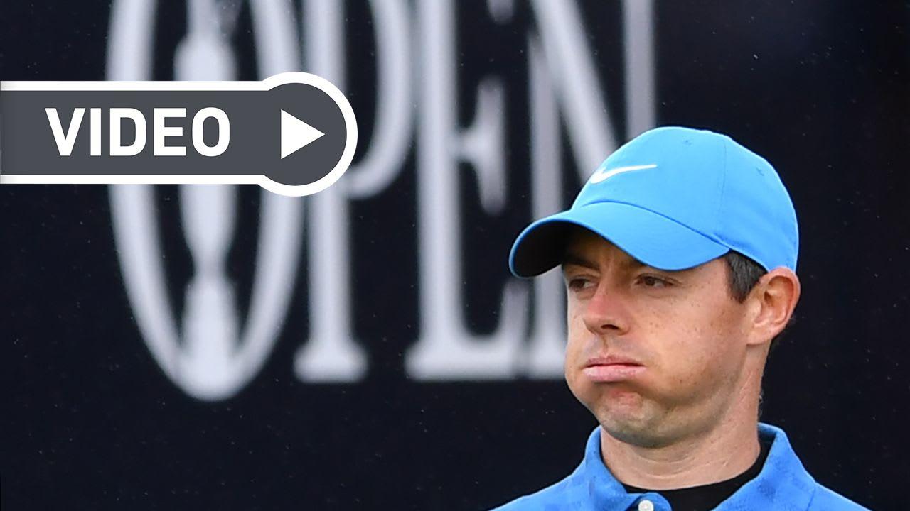 Rory McIlroy war bereits nach seinem ersten Schlag bei der British Open 2019 bedient. (Foto: Getty)