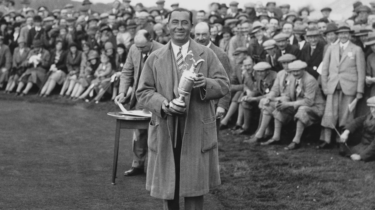 Walter Hagen bei einem Show-Match 1937. (Foto: Getty)