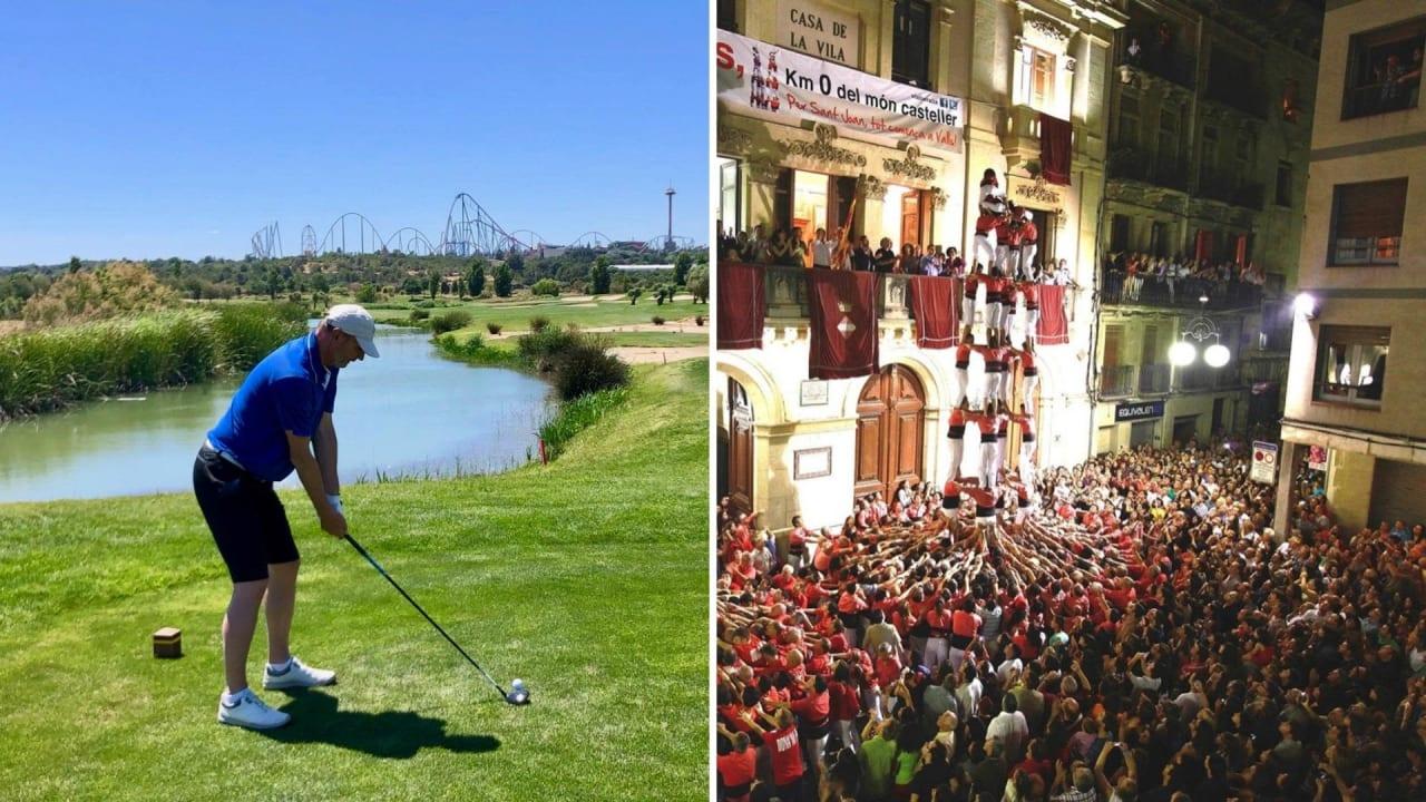 Golfen an der Costa Daurada - good value for money (Foto links: Jürgen Linnenbürger, Foto rechts: Ajuntament de Valls / Pere Toda)