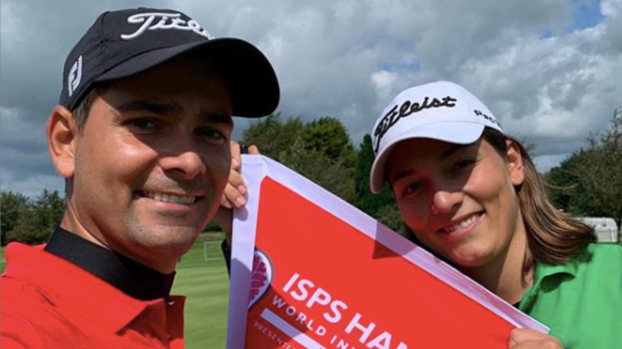 Karolin und Moritz Lampert freuen sich sichtlich über ihre erste gemeinsame Turnierteilnahme seit über acht Jahren. (Foto: Instagram / @molampert)