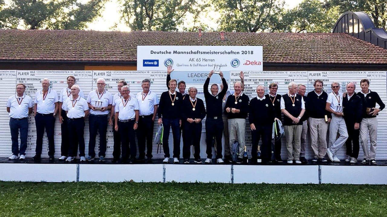 Das Team des GLC Berlin-Wannsee könnte bei der dritten Deutschen Mannschaftsmeisterschaft den dritten Titel der AK65 holen. (Bildquelle: Langer Sport Marketing)
