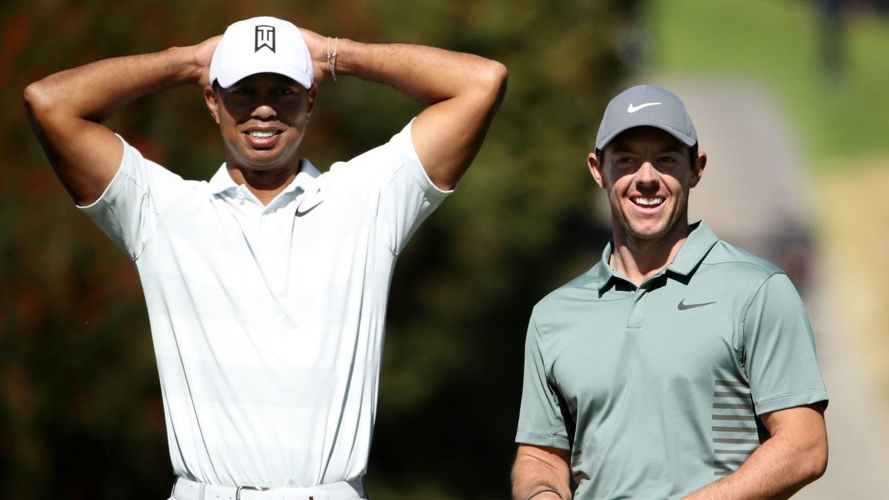 Tiger Woods und Rory McIlroy werden sich beim Skins Game der PGA Tour um das Preisgeld streiten. (Foto: Getty)