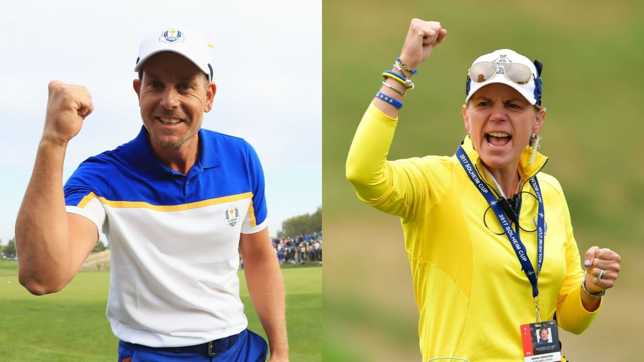 Henrik Stenson und Annika Sörenstam präsentieren das Scandinavian Mixed, ein gemeinsames Turnier der European Tour und Ladies European Tour. (Foto: Getty)