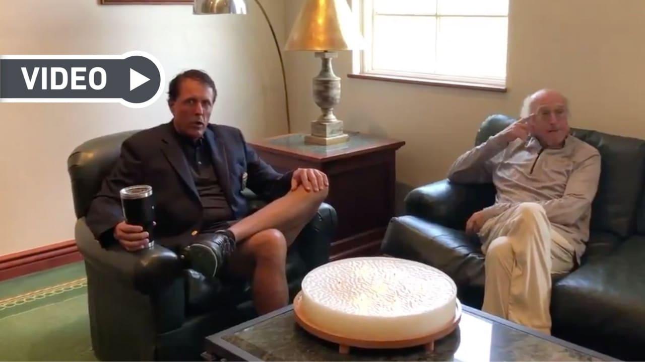 Phil Mickelson empfängt Larry David bei