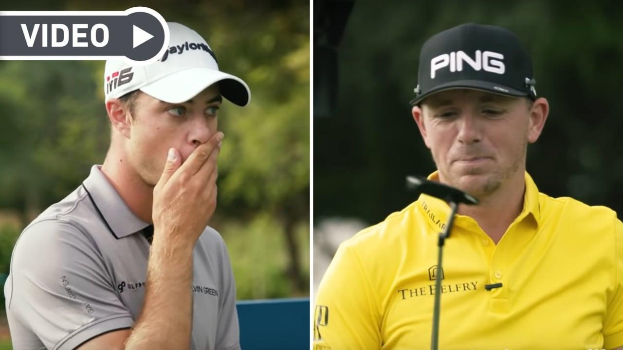 Guido Migliozzi und Matt Wallace bei der 14 Club Challenge der European Tour. (Foto: Youtube.com/European Tour)