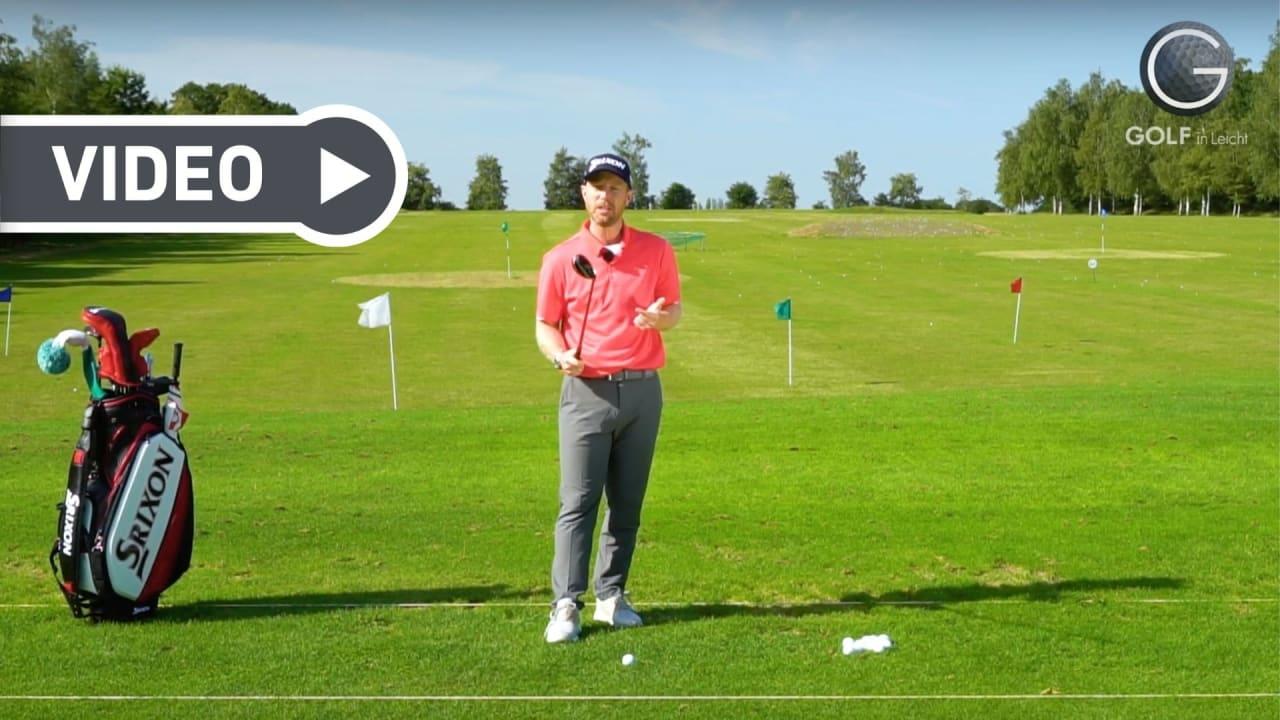 Worauf Sie beim Spielen mit dem Hybrid besonders achten müssen, zeigt Ihnen Fabian Bünker. (Foto: Youtube/Golf in Leicht)