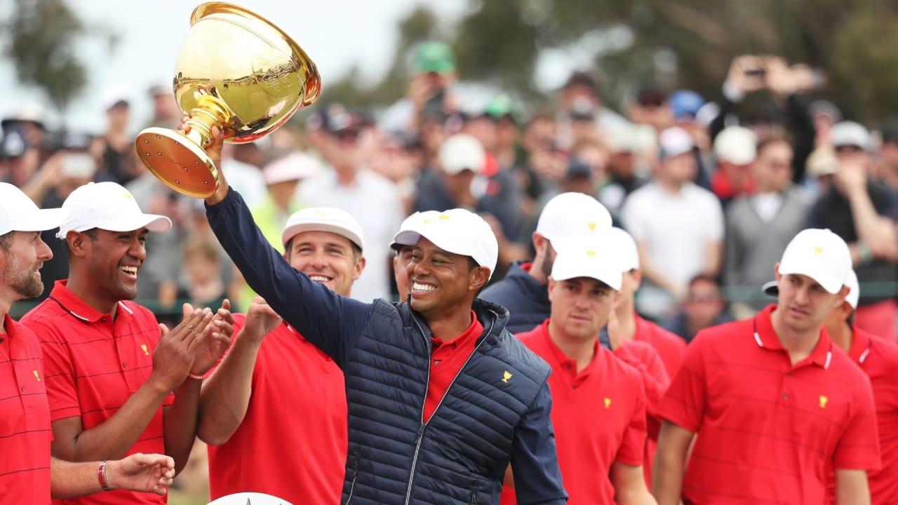 Tiger Woods gewinnt mit seinem Team den Presidents Cup 2019. (Foto: Getty)