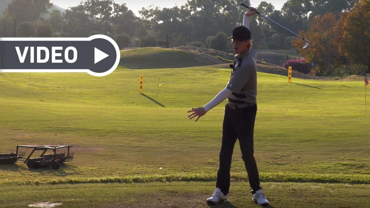 Birdietrain zeigt, wie Sie die optimale Aushollänge beim Schwung finden. (Foto: Youtube/Birdietrain)
