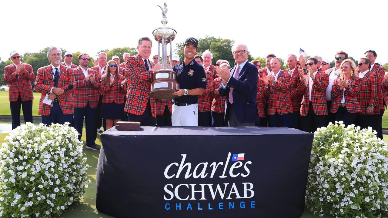 Kevin Na sichert sich den Titel der Charles Schwab Challenge. (Bildquelle: Getty)