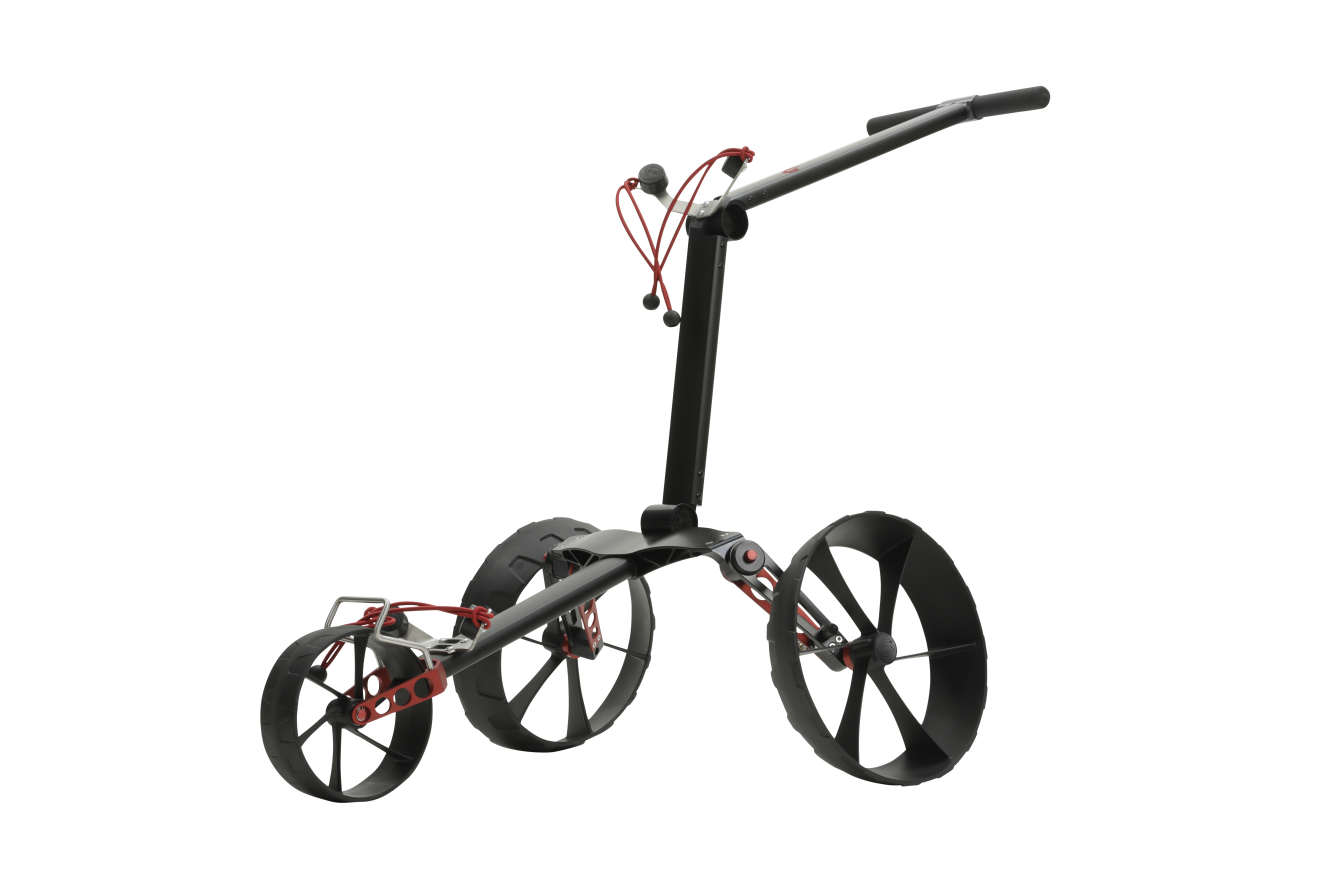 Mit großen Rädern wirkt der Trolley wie ein gigantischer Geländewagen unter den Trolleys.